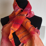 Bags and Bits by BMJ by Margaret Jackson – Orange felted Scarf