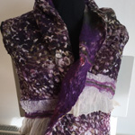 Bags and Bits by BMJ by Margaret Jackson – Purple felted Scarf